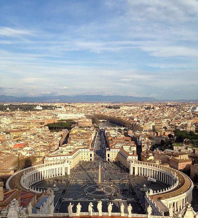 View of Rome from St. Peters - Photo by Valeria D'Urso